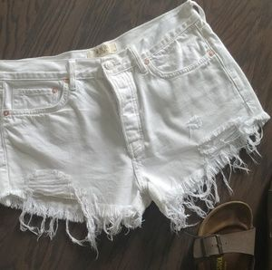 Free People Frayed Jean Shorts